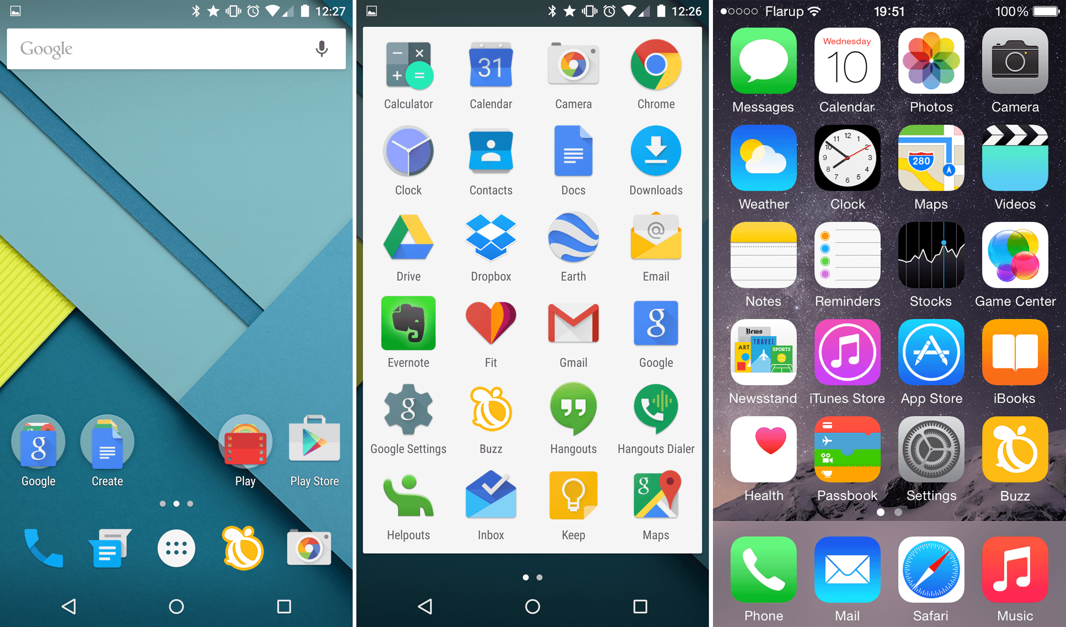 Buzz app icon displayed on Android and iOS phones