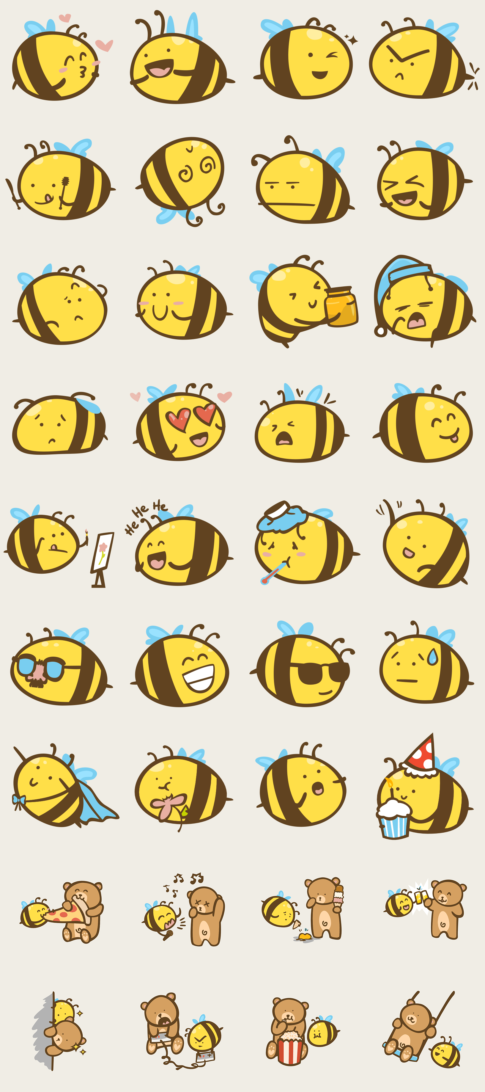 Image showing the final Buzz Bees stickers