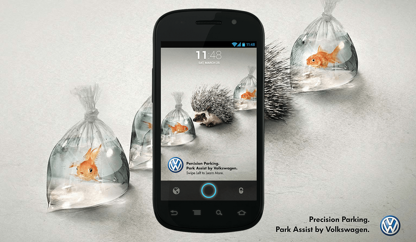 Redesign of a VW ad into Locket lock screen